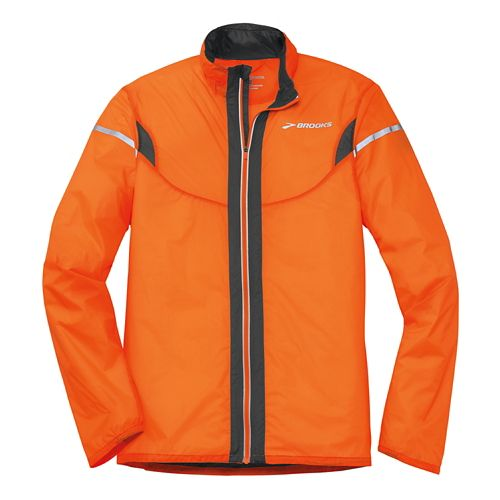 Mens Brooks LSD Lite IV Running Jackets - Brite Orange/Anthracite XS