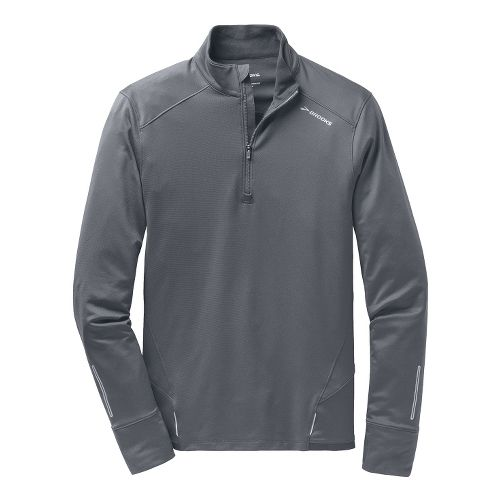 Mens Brooks Infiniti Long Sleeve 1/2 Zip Technical Tops - Asphalt M