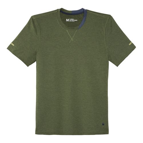 Mens Brooks Pureproject Short Sleeve Knit Crew Technical Top - Olive M