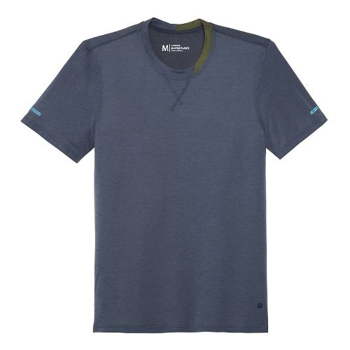 Mens Brooks Pureproject Short Sleeve Knit Crew Technical Top - Midnight Blue S