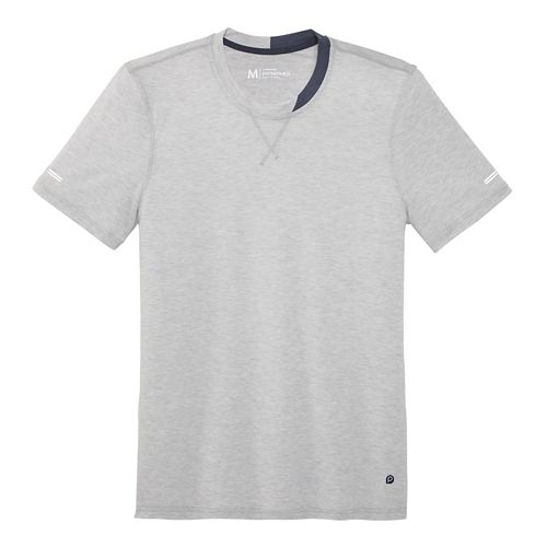 Mens Brooks Pureproject Short Sleeve Knit Crew Technical Top - Pewter S
