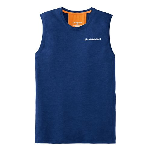 Mens Brooks Essential Sleeveless Technical Top - Indigo XL