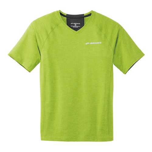 Mens Brooks Essential Short Sleeve II Technical Top - Lime Green XS