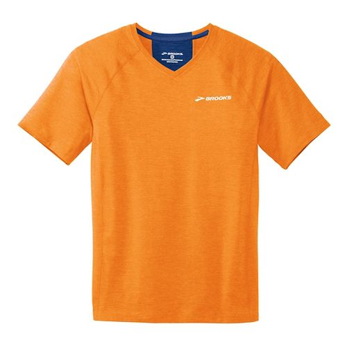 Mens Brooks Essential Short Sleeve II Technical Top - Satsuma L