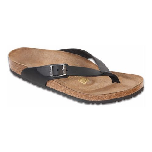 Womens Birkenstock Adria Sandals Shoe - Black Oiled Leather 36