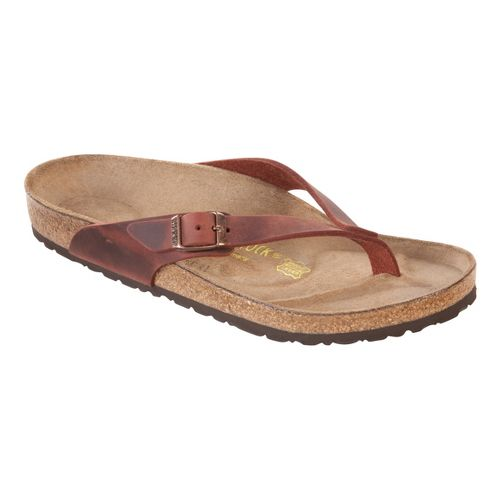 Womens Birkenstock Adria Sandals Shoe - Henna Oiled Leather 38