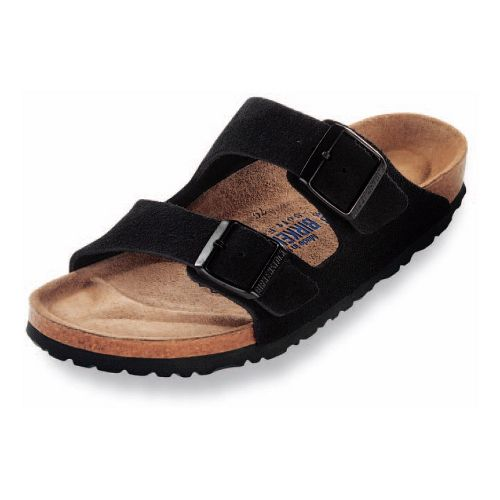 Birkenstock Arizona Soft Footbed Sandals Shoe - Black Suede 38