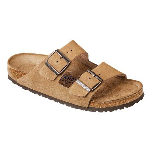 Birkenstock Arizona Soft Footbed Sandals Shoe - Jasper Suede 40