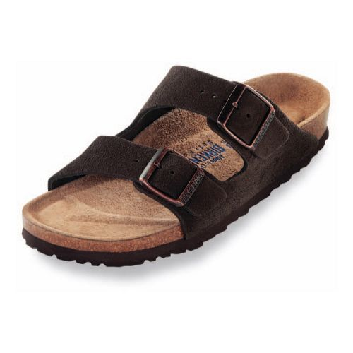 Birkenstock Arizona Soft Footbed Sandals Shoe - Mocha Suede 38