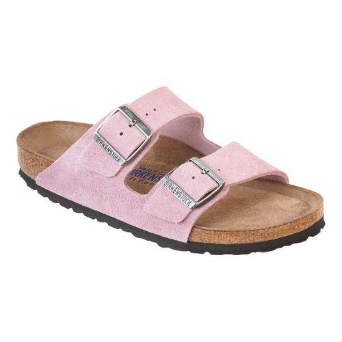 Birkenstock Arizona Soft Footbed Sandals Shoe - Passion Flower Suede 37