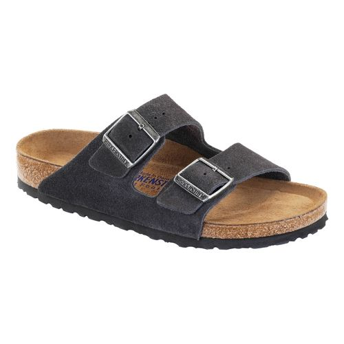 Birkenstock Arizona Soft Footbed Sandals Shoe - Velvet Grey 37