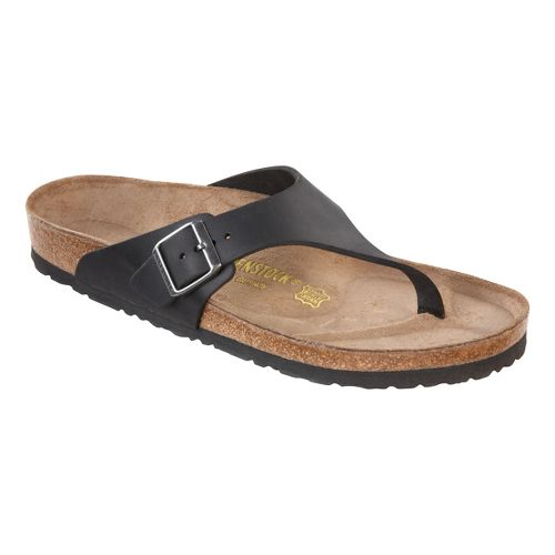 Mens Birkenstock Como Sandals Shoe - Black Oiled Leather 42