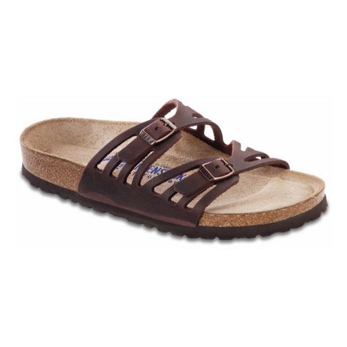Womens Birkenstock Granada Soft Footbed Sandals Shoe - Habana Oiled Leather 35