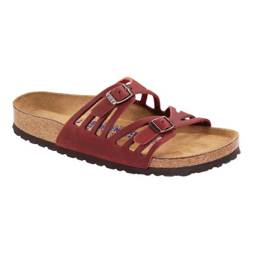 Womens Birkenstock Granada Soft Footbed Sandals Shoe - Henna Oiled Leather 40