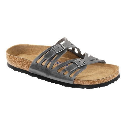 Womens Birkenstock Granada Soft Footbed Sandals Shoe - Iron 36