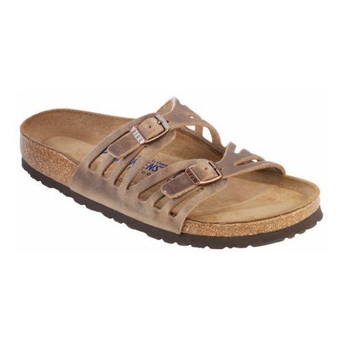 Womens Birkenstock Granada Soft Footbed Sandals Shoe - Tobacco Oiled Leather 37