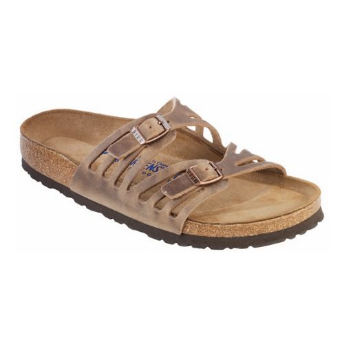 Womens Birkenstock Granada Soft Footbed Sandals Shoe - Tobacco Oiled Leather 38