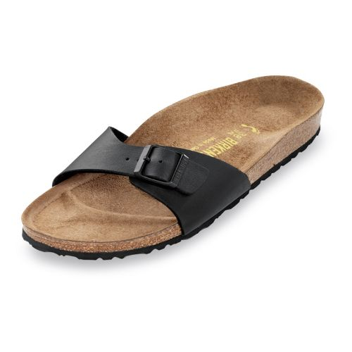Womens Birkenstock Madrid Sandals Shoe - Black Birko-Flor 35