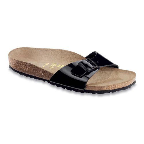 Womens Birkenstock Madrid Sandals Shoe - Black Patent Birko-Flor 39