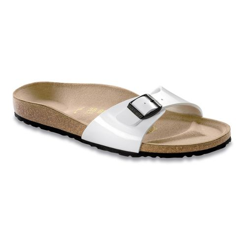 Womens Birkenstock Madrid Sandals Shoe - Bright White Patent Birko-Flor 36