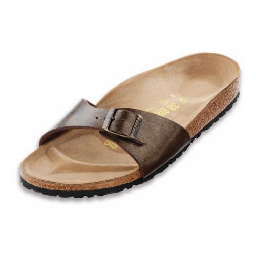 Womens Birkenstock Madrid Sandals Shoe - Golden Brown Birko-Flor 41