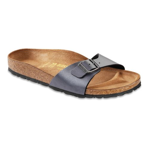 Womens Birkenstock Madrid Sandals Shoe - Onyx Birko-Flor 38