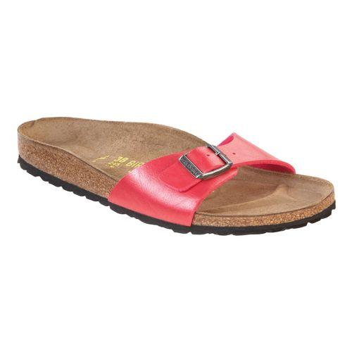 Womens Birkenstock Madrid Sandals Shoe - Rose Red Birko-Flor 36