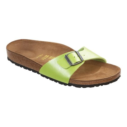 Womens Birkenstock Madrid Sandals Shoe - Sharp Green Birko-Flor 39