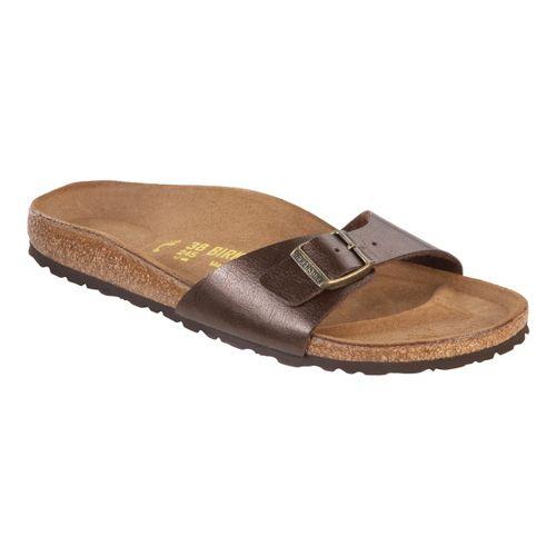 Womens Birkenstock Madrid Sandals Shoe - Toffee Birko-Flor 37