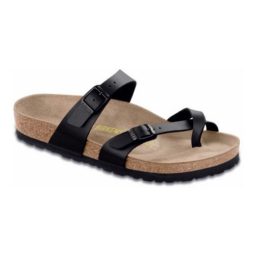 Womens Birkenstock Mayari Sandals Shoe - Black Birko-Flor 35