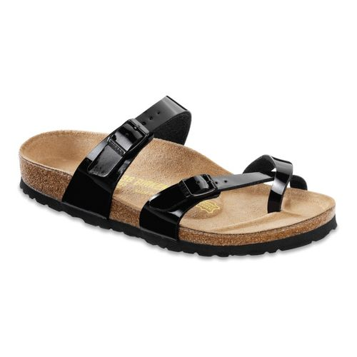 Womens Birkenstock Mayari Sandals Shoe - Black Patent Birko-Flor 41