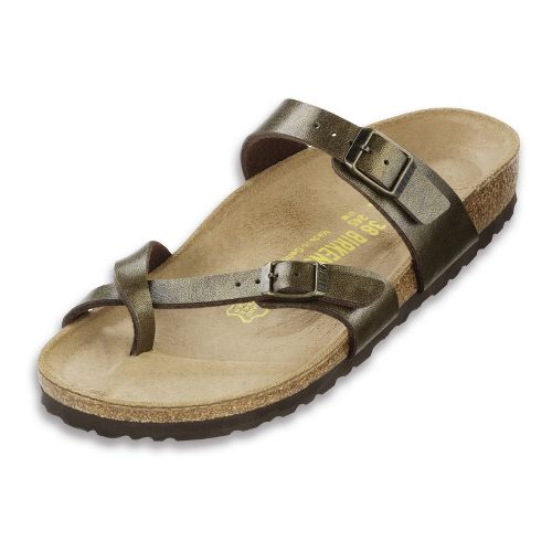 Womens Birkenstock Mayari Sandals Shoe - Golden Brown Birko-Flor 40