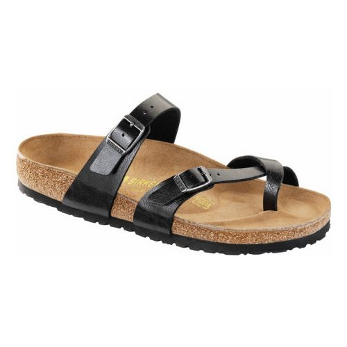 Womens Birkenstock Mayari Sandals Shoe - Licorice Birko-Flor 36