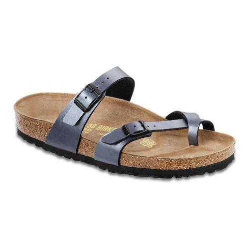 Womens Birkenstock Mayari Sandals Shoe - Onyx Birko-Flor 38