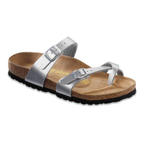 Womens Birkenstock Mayari Sandals Shoe - Silver Birko-Flor 38
