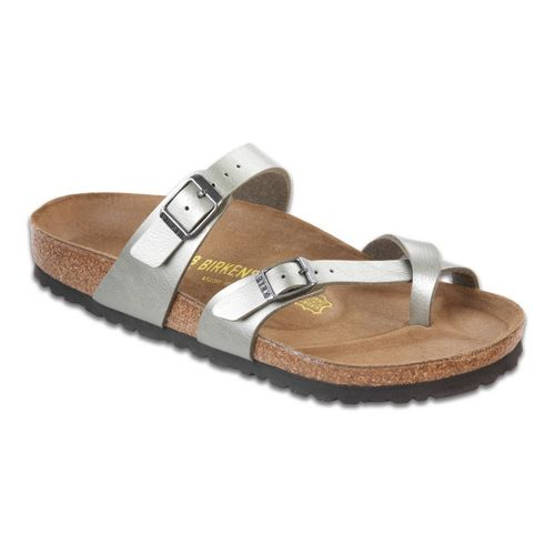 Womens Birkenstock Mayari Sandals Shoe - Titanium Birko-Flor 39