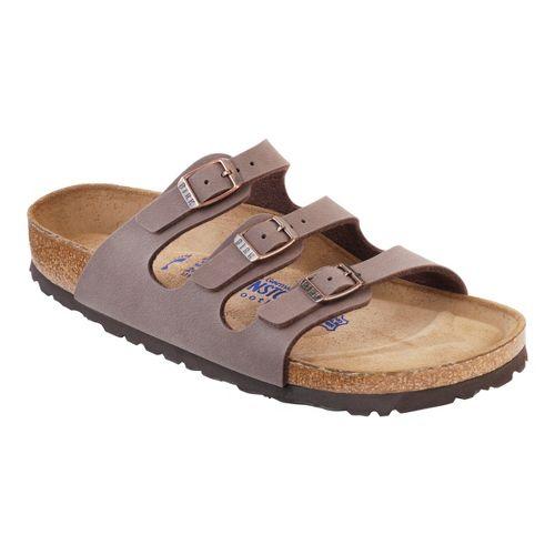 Womens Birkenstock FLORIDA SOFT FOOTBED Sandals Shoe - Mocha Birko-Flor 36