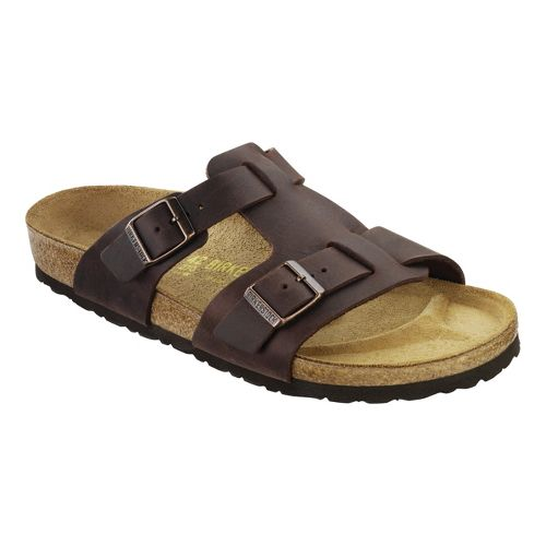 Mens Birkenstock Riva Sandals Shoe - Habana Oiled Leather 42
