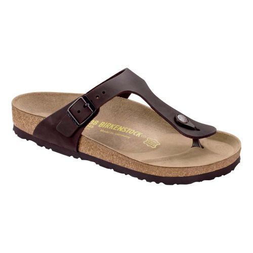 Womens Birkenstock Gizeh Leather Sandals Shoe - Habana Oiled Leather 38