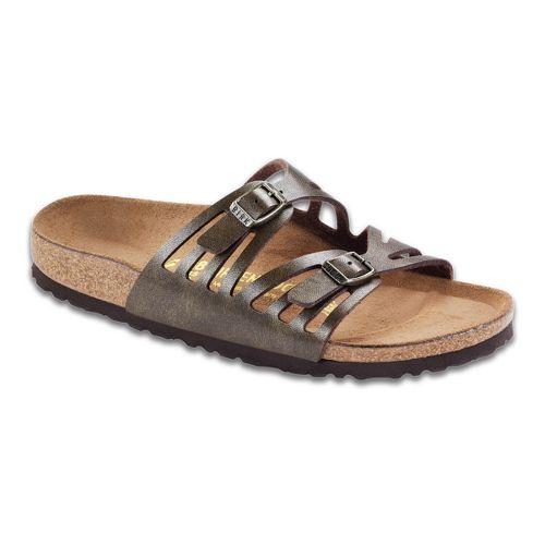 Womens Birkenstock Granada Sandals Shoe - Golden 36