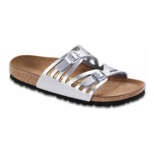 Womens Birkenstock Granada Sandals Shoe - Silver 39