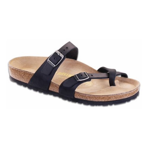Womens Birkenstock Mayari Oiled Leather Sandals Shoe - Black 36