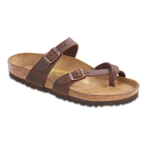 Womens Birkenstock Mayari Oiled Leather Sandals Shoe - Habana 38