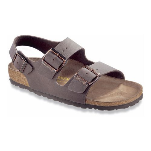 Birkenstock Milano Birkibuc Sandals Shoe - Mocha 44