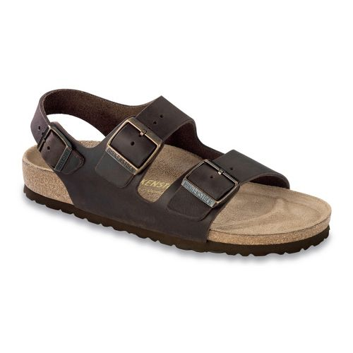 Birkenstock Milano Oiled Leather Sandals Shoe - Habana 45