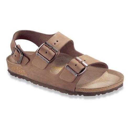 Birkenstock Milano Nubuck Sandals Shoe - Cocoa 37