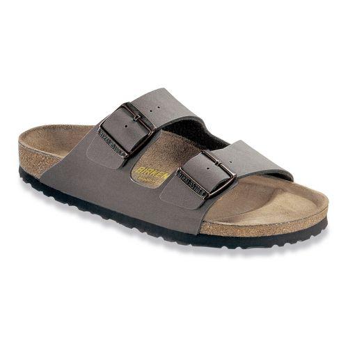 Birkenstock Arizona Birko-Flor Sandals Shoe - Stone Birkbuc 46