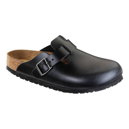 Birkenstock Boston Soft Footbed Casual Shoe - Black Amalfi Leather 41