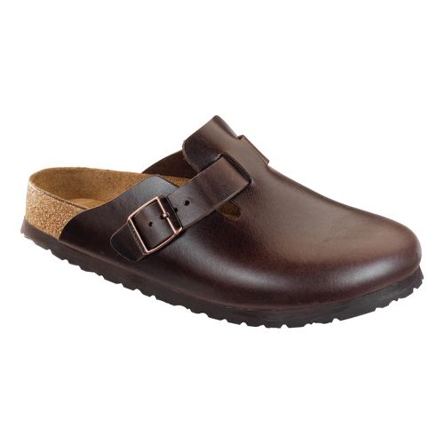 Birkenstock Boston Soft Footbed Casual Shoe - Brown Amalfi Leather 44