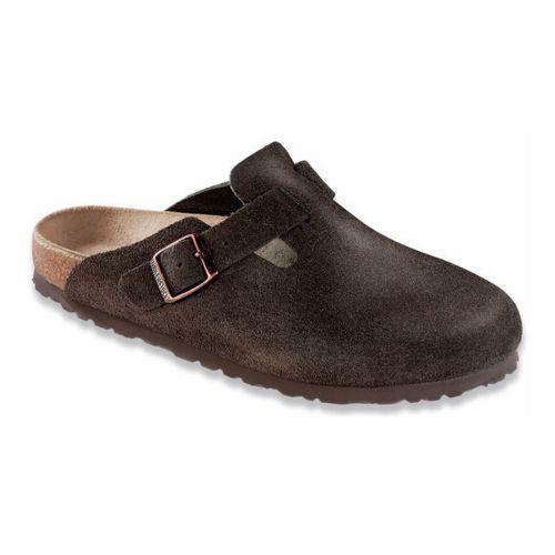 Birkenstock Boston Soft Footbed Casual Shoe - Mocha Suede 44